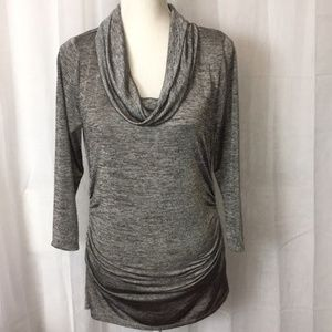 Chaus Sliver 3/4 Sleeve  Cowl Neck Blouse M